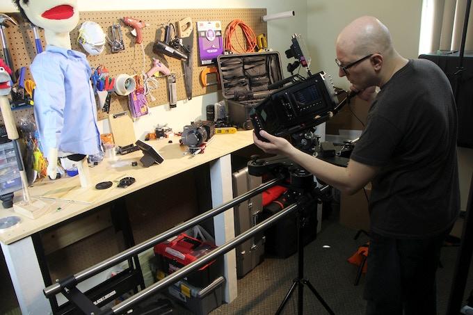 Shooting the slider segment of our Kickstarter video