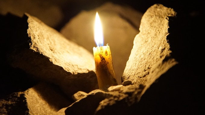 100% Beeswax Candle -- Used to Naturally Light the Teaser