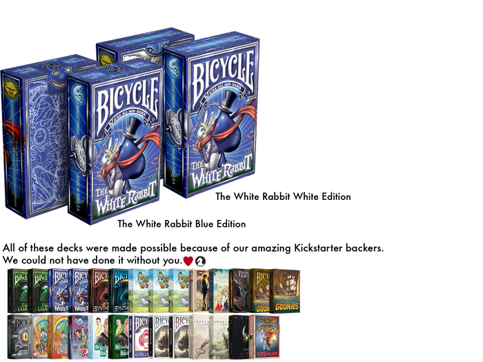 Inspired by the works of Lewis Carroll, this is the newest Bicycle® deck from Albino Dragon. Printed by the USPCC.   Status: DELIVERED