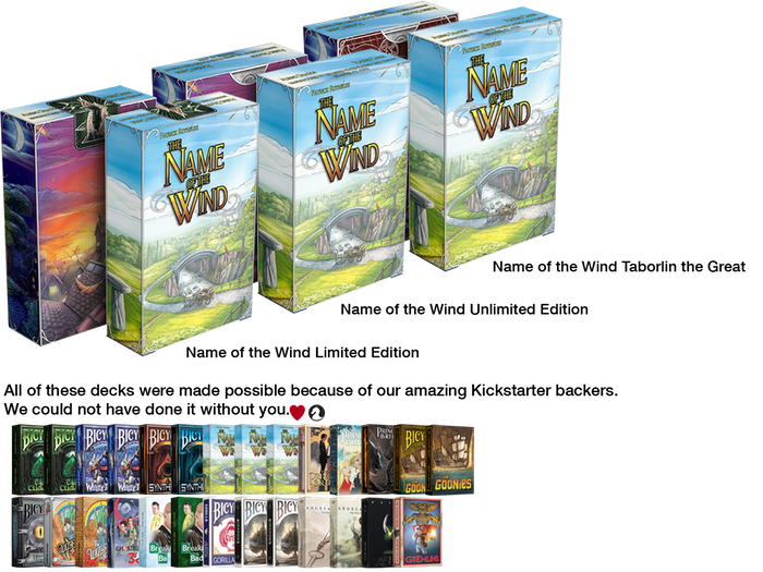 The Name Of The Wind Playing Cards By Albino Dragon