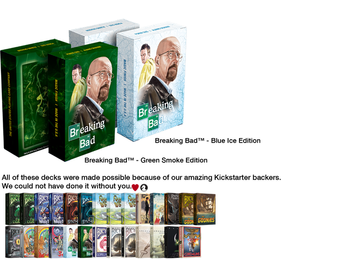 You all know exactly who I am.  Say my name. Officially licensed Breaking Bad playing cards printed by USPCC.