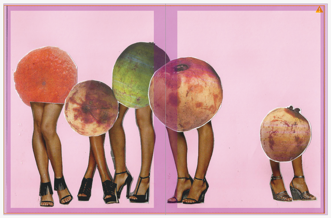 ¡Estas Como Mango! Magazine pages created as a Public Participatory Project with Fallen Fruit at OPC in March of 2015