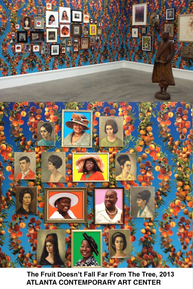 Installation view, The Fruit Doesn't Fall Far From The Tree, with the Atlanta Contemporary, 2013