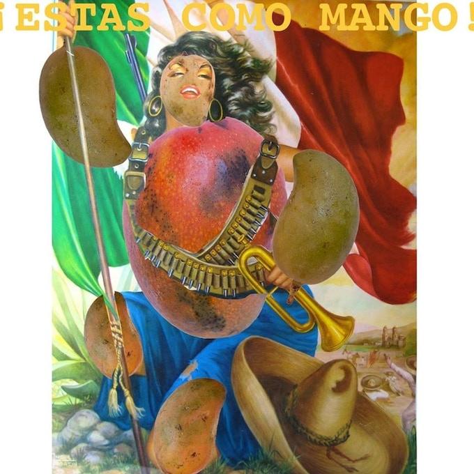 ¡Estas Como Mango! Magazine Cover Image, Created by Fallen Fruit, March of 2015