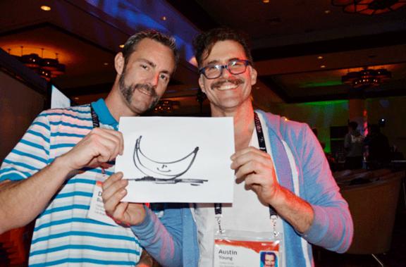 "David Burns and Austin Young presenting Fallen Fruit ""Go Bananas"" at TEDActive, 2013"
