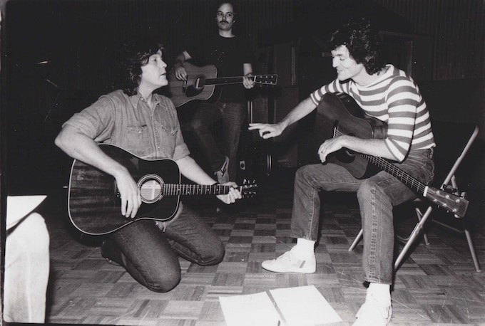 """Guy and Rodney in the studio making the album """"Better Days"""""""