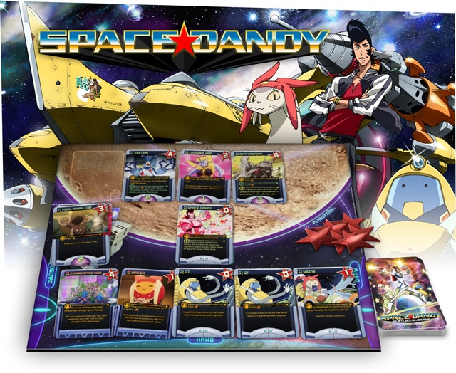 space dandy deck building card game by seven seas games kickstarter