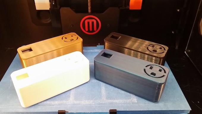 Ottobox Prototypes printed on Makerbot