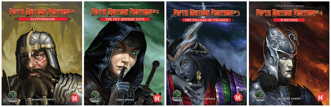 Cover Art to the Fifth Edition Fantasy Line