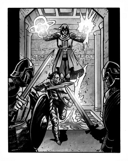 Sample interior illustration from War-Lock