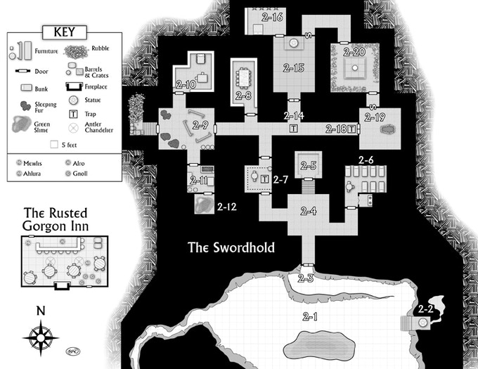 One of the maps from War-Lock (players, avert your eyes!)
