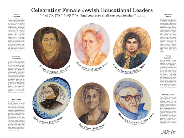 Women Torah scholars finally have their well-deserved space on our Sukkah walls with this beautiful poster.