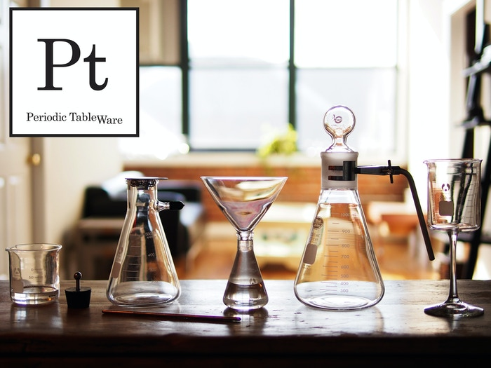 A line of drinkware based upon the iconic look of laboratory glass.