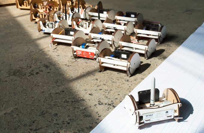 Some of the prototypes used to get Mirobot to where it is today