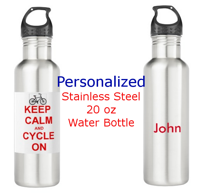 We will print your name (or whatever you choose) on the back of this fun water bottle!