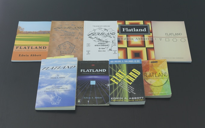 A sample of Flatland's current circulation. Though a couple editions have wonderful annotations, they all lack in durability and design.