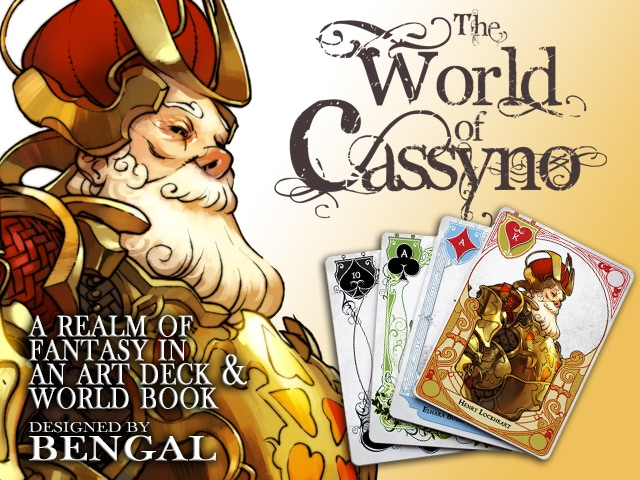 A stunning deck of playing cards featuring character art, world fiction, and original card games designed by the celebrated artist!
