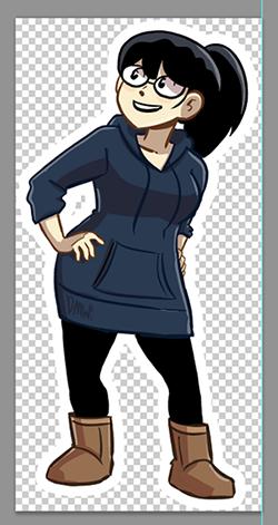 Billie character magnet mock-up