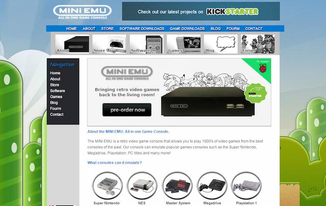 MINI EMU: All-in-One Retro Game Console (Raspberry Pi) by Sumbo