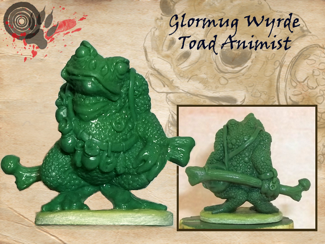 Toad approx 27mm to top of head