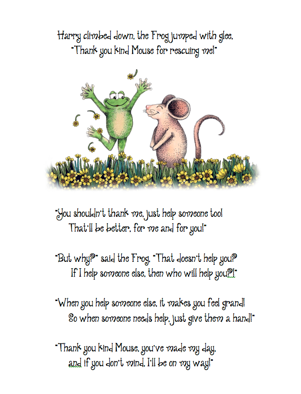 Page from the book, the dialogue that is repeated from character to character.