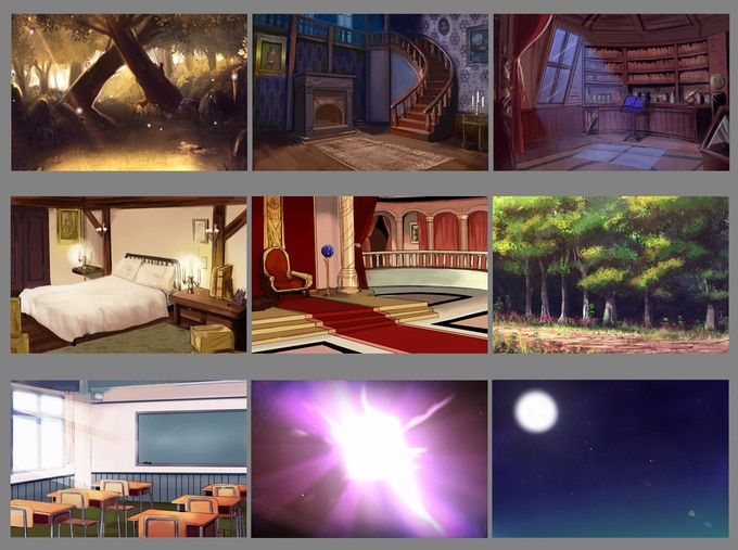 Actual backgrounds in the game!