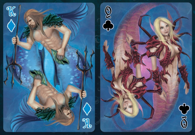 King of Diamonds and Queen of Clubs