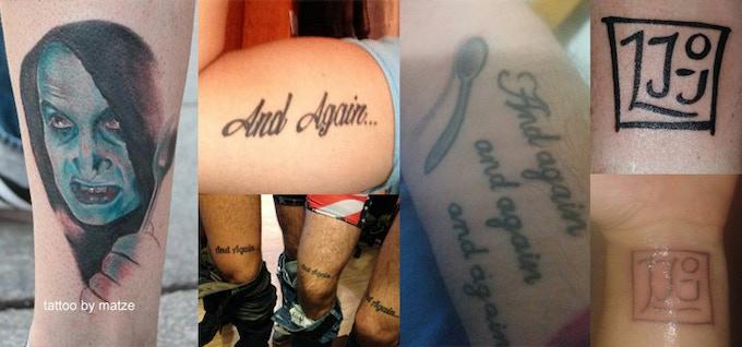 Fan tattoos