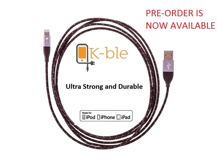 No more broken iPhone Lightning cables! Meet K-ble X - Strong & Durable - Built to Last! Extended Strain Protectors and Nylon Jacket