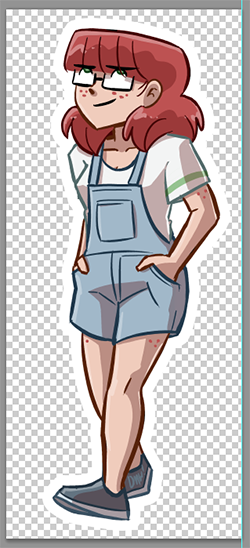 Ruth character magnet mock-up