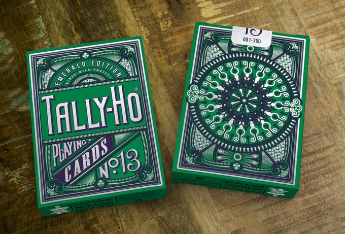 Emerald tally ho playing cards by jackson robinson by for 51090 text