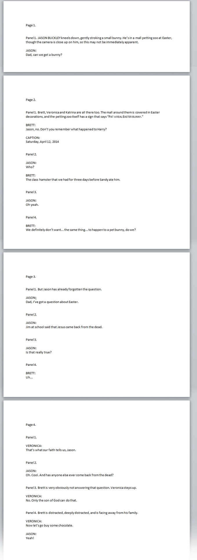 The first part of the script for the lost issue of Undad! Let's bring it back from the dead together.