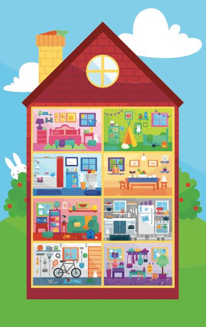 Illustration mock-up for House, 2015 Adrianne Adelle