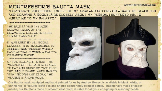 Our Bautta or Bauta mask; beloved of highborne and low for all their clandestine doings.