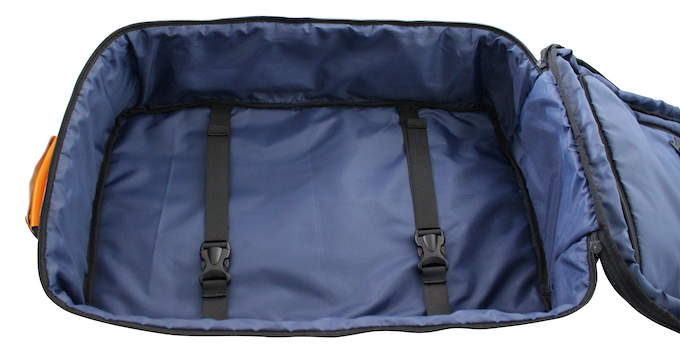 "SOLO opens all the way up ""clam-shell"" style for convenient and easy packing. The luggage compartment is expandable too."