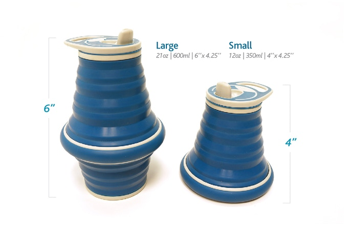Choose from two sizes:  Large (21 oz/600 ml) and Small (12 oz/350 ml)