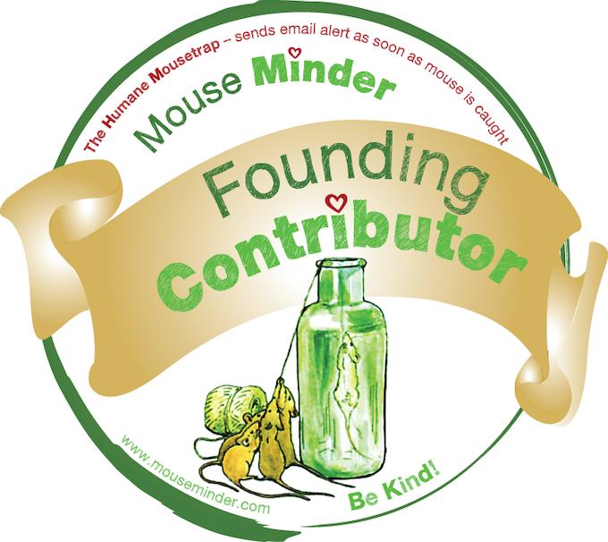 Mouse Minder weatherproof self-adhesive sticker