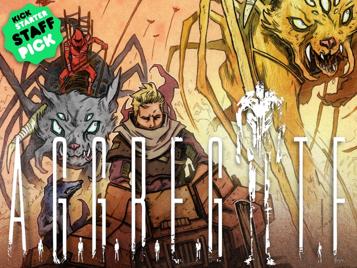 A post-apocalyptic graphic novel with giant robots, organically engineered terrorists and spider-cats. Really. -by Ben Bishop.