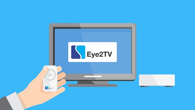 Eye2TV operated by remote control unit