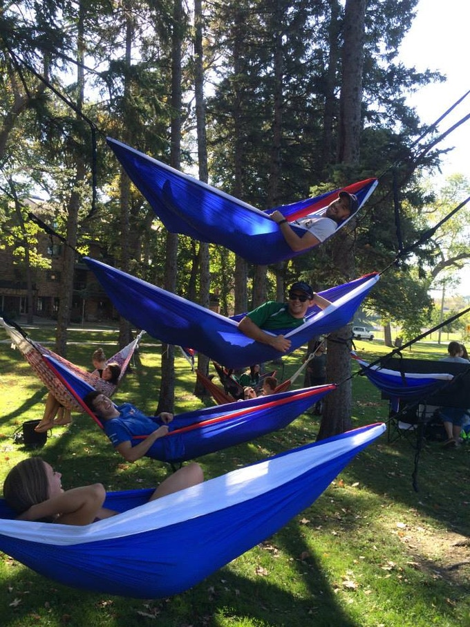Eagle Nest Outfitters (ENO) sponsored our last event by donating hammocks.