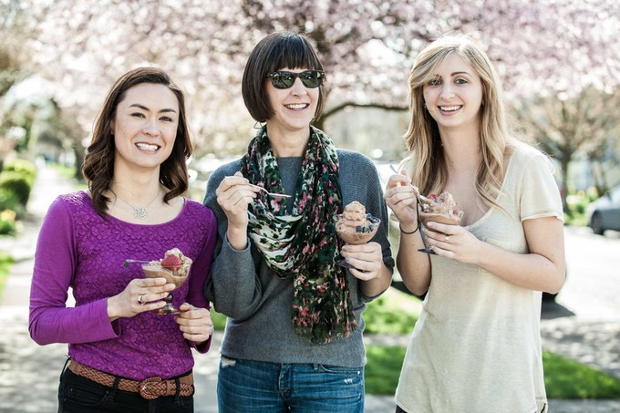 Pictured: April Eklund of The Maple Parlor, Mary Nichols of Murmur Creative & Ashley Turner of The Maple Parlor