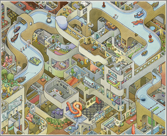 BIG CANAL print - my previous Kickstarter campaign and the thing that gave me the confidence to make BIG HOSPITAL.
