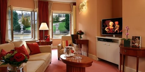 Mozart Suite a top accomodation at the Aria hotel in Prague, which is located nearby the Prague Castle