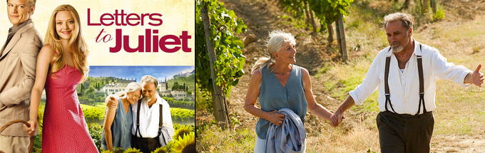 """Franco Nero and Vanessa Redgrave in """"Letters To Juliet""""."""
