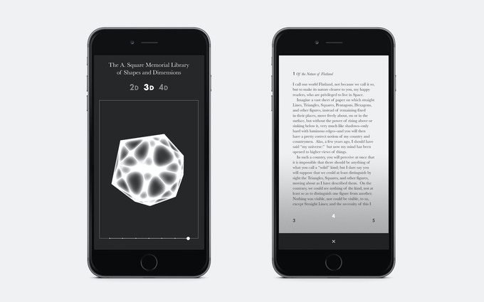 The library will work on mobile, and may even be released as an app that doubles as a Flatland reader.
