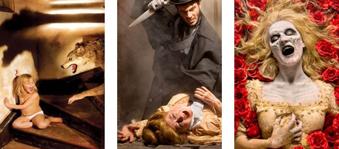 Just a few of JOSHUA HOFFINE's previous Horror photographs: Wolf, Jack the Ripper, Persephone