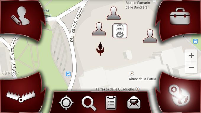 Main game screen - MAP