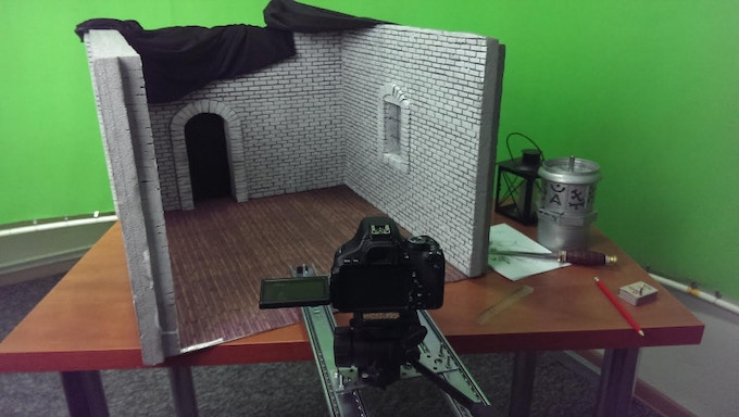Our amateur studio with green-screen