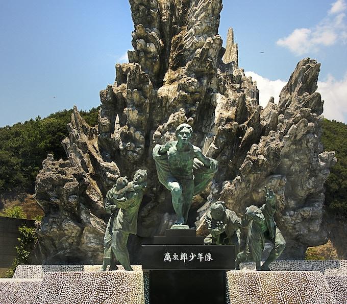 Statue of John Manjiro in Kochi Prefecture