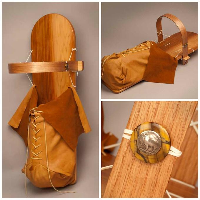 Cradleboard with Buckskin Cradle Bag